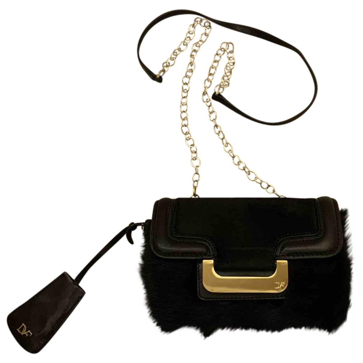 Diane Von Furstenberg \N Handtasche in  Schwarz Fell