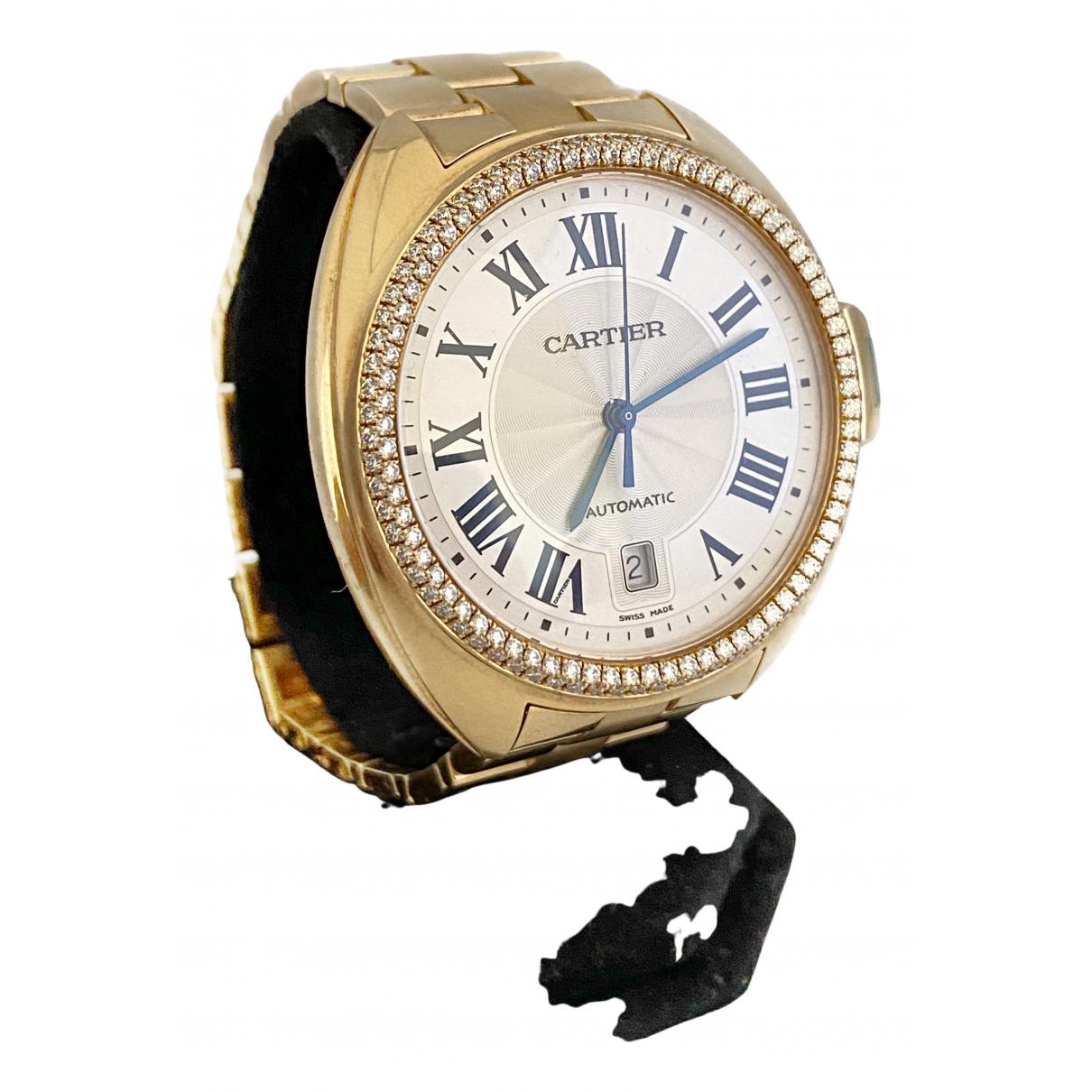 Cartier Cle Uhr in  Gelb Gelbgold