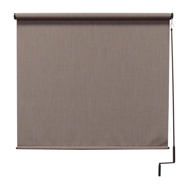 Premier Cordless Outdoor Sun Shade, 4' W x 8' L, Sandstone