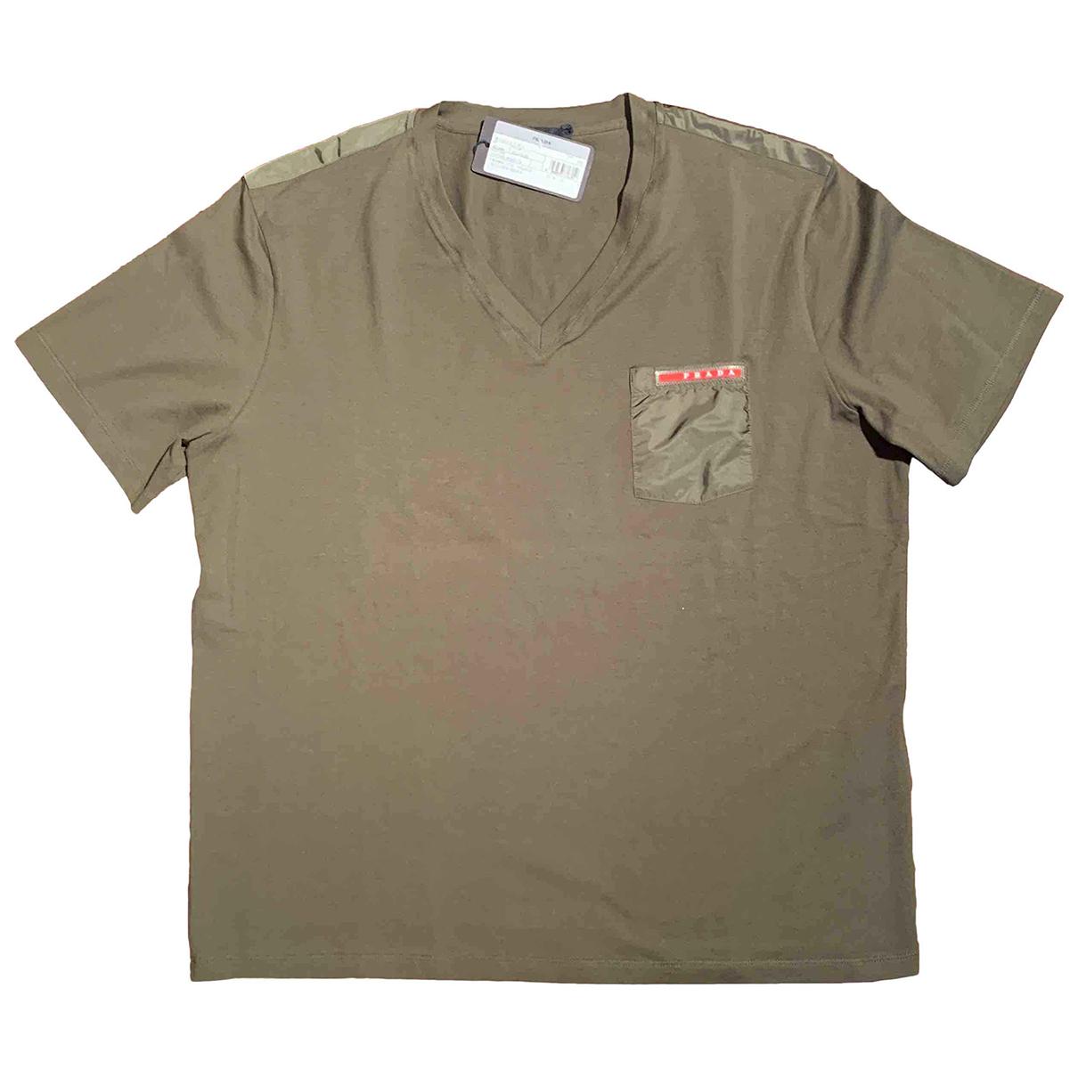 Prada N Green Cotton T-shirts for Men XXL International
