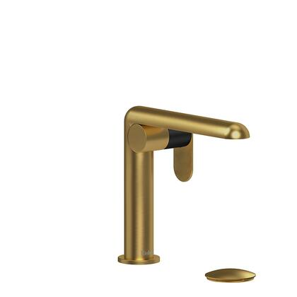 Ciclo CIS01KNBKBG-10 Single Hole Lavatory Faucet with Knurled Textured Handle 1.0 GPM  in Black/Brushed