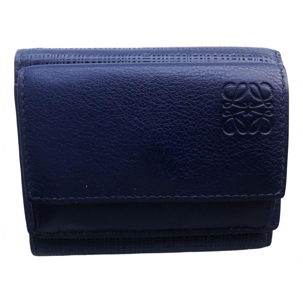Loewe \N Navy Leather Small bag, wallet & cases for Men \N
