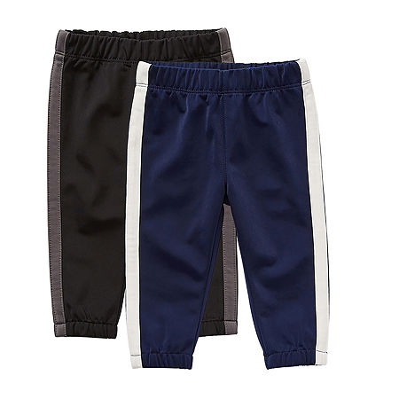Okie Dokie Baby Boys 2-pc. Cinched Pull-On Pants, One Size , Black