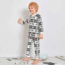 Schlafanzug Set mit Weihnachten Muster