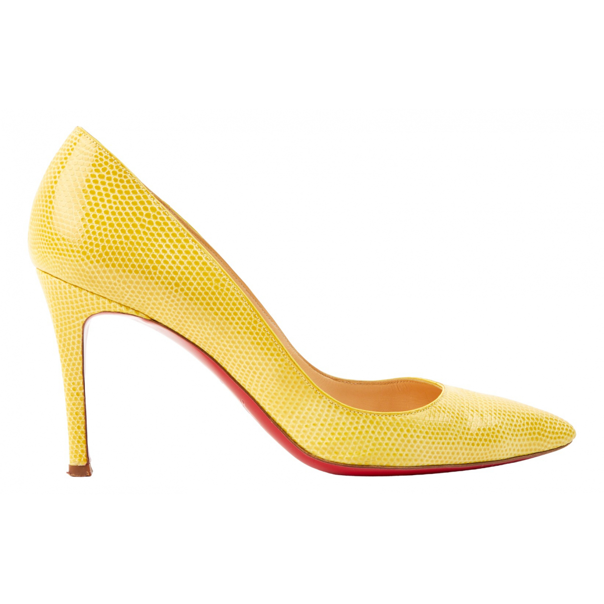 Christian Louboutin So Kate  Pumps in  Gelb Leder