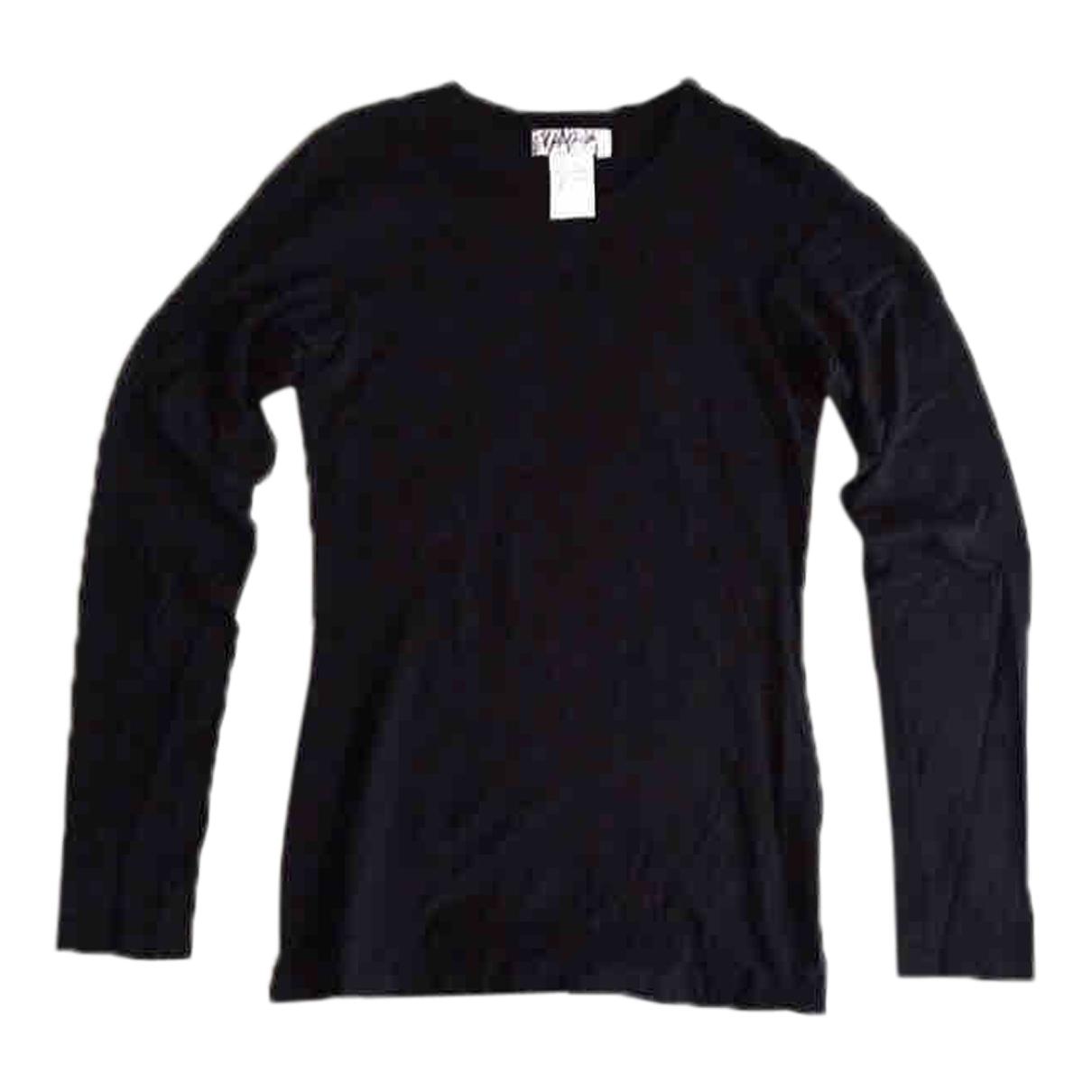 Yohji Yamamoto \N Top in  Schwarz Baumwolle