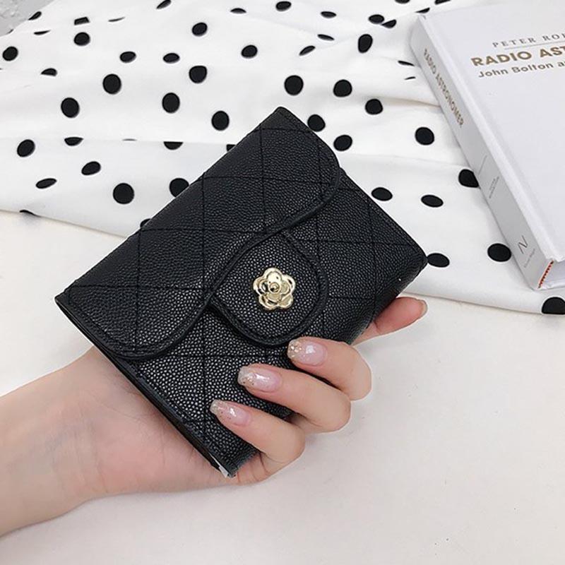 Ericdress Plaid Mini 3 Folds Women's Wallets