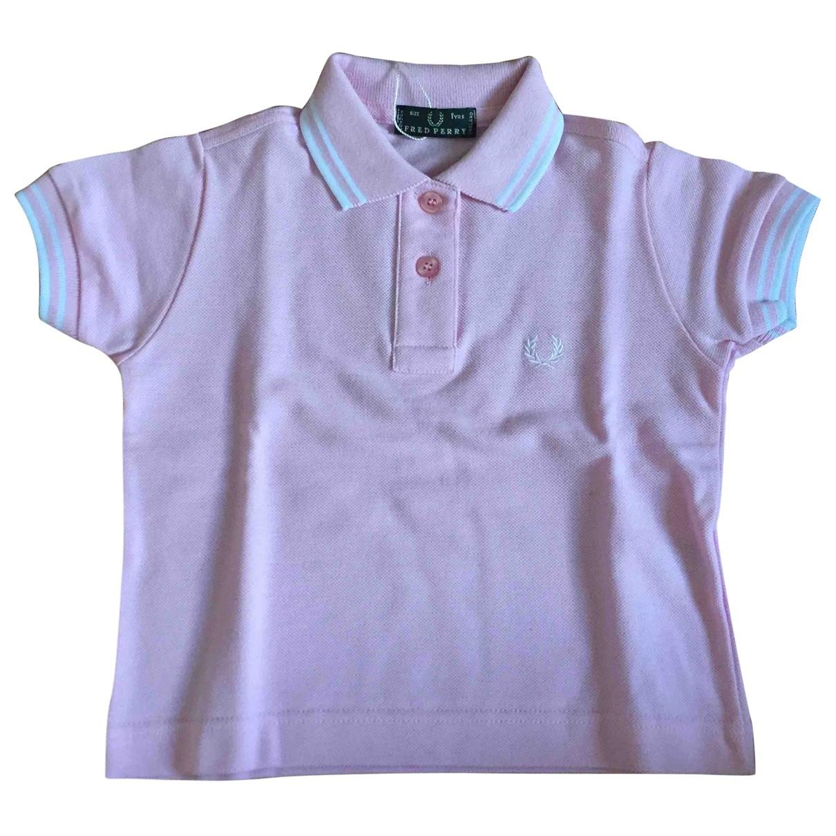 Fred Perry - Top   pour enfant en coton - rose