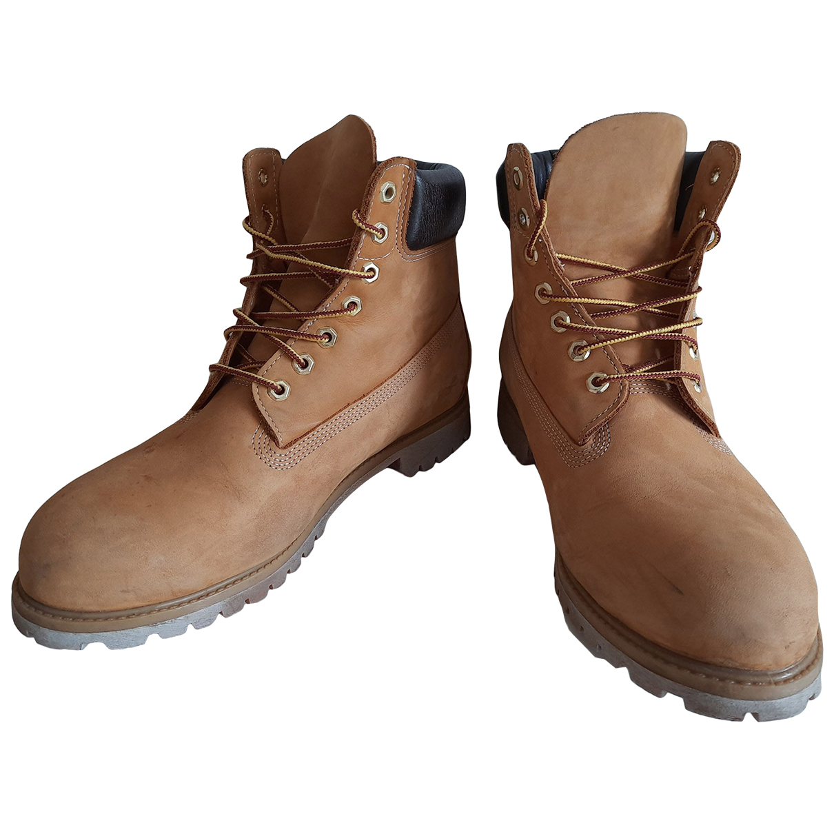 Timberland \N Yellow Leather Boots for Men 45 IT