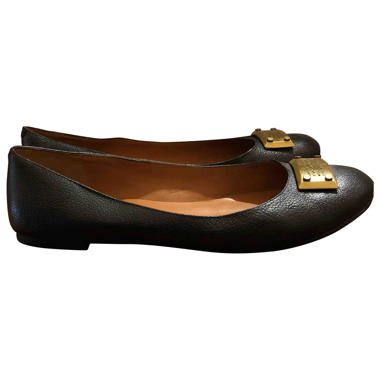 Marc By Marc Jacobs \N Black Leather Ballet flats for Women 40 EU