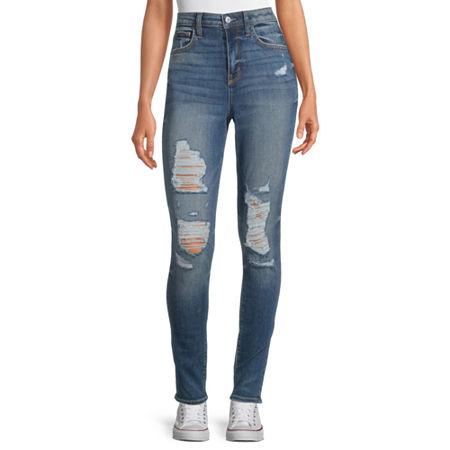 Arizona - Juniors Womens High Rise Skinny Fit Jean, 3 , Blue
