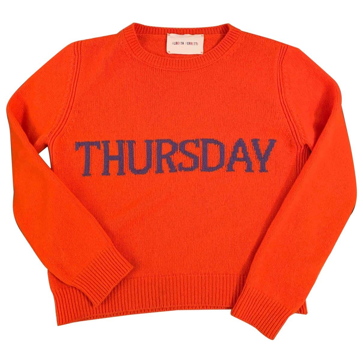 Alberta Ferretti \N Pullover in  Orange Wolle