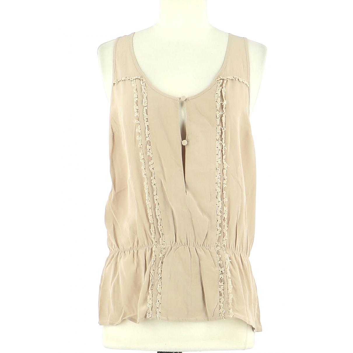 Bel Air - Top   pour femme en soie - beige