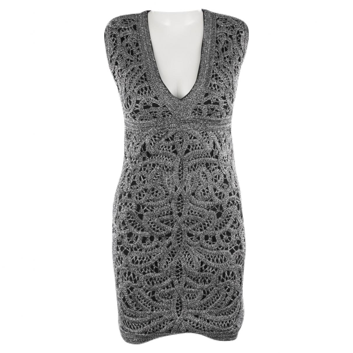 Maje \N Kleid in  Metallic Baumwolle