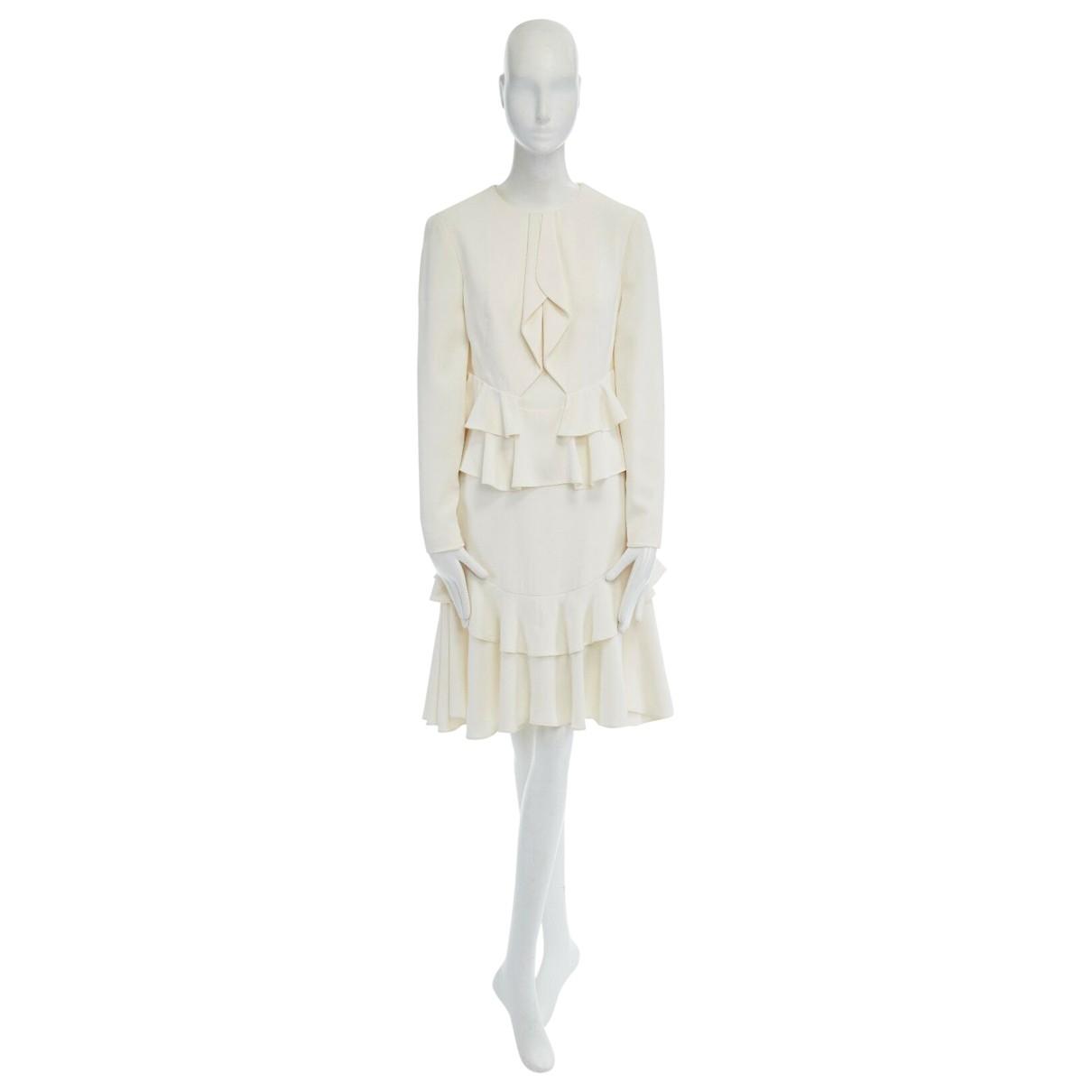 Alexander Mcqueen \N Kleid in  Beige Seide