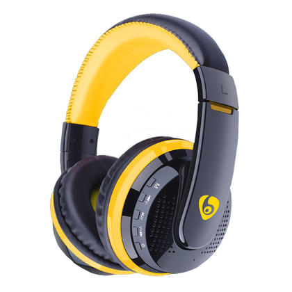 OVLENG MX666 Wireless Bluetooth V4.0+EDR Headsets with Built-in Mic, Rechargeable - Yellow