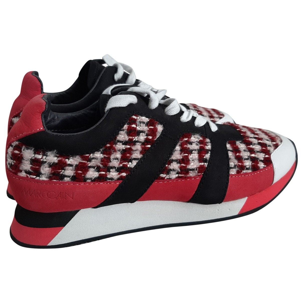 Marc Cain \N Red Leather Trainers for Women 39 EU