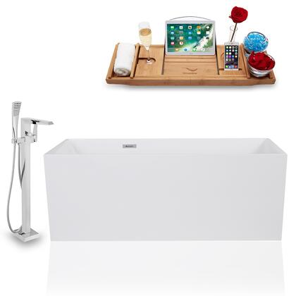 KH1169-100  59'' Freestanding Tub  Faucet  and Tray