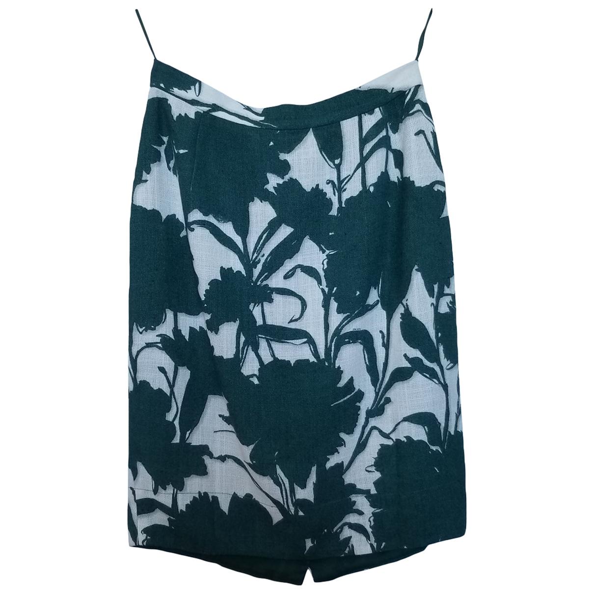 Prada \N Green Linen skirt for Women 40 IT