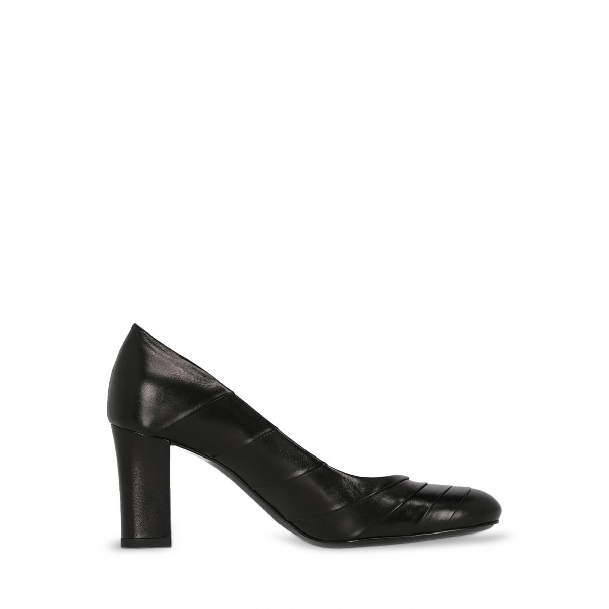 Jil Sander - Escarpins   pour femme en cuir - noir