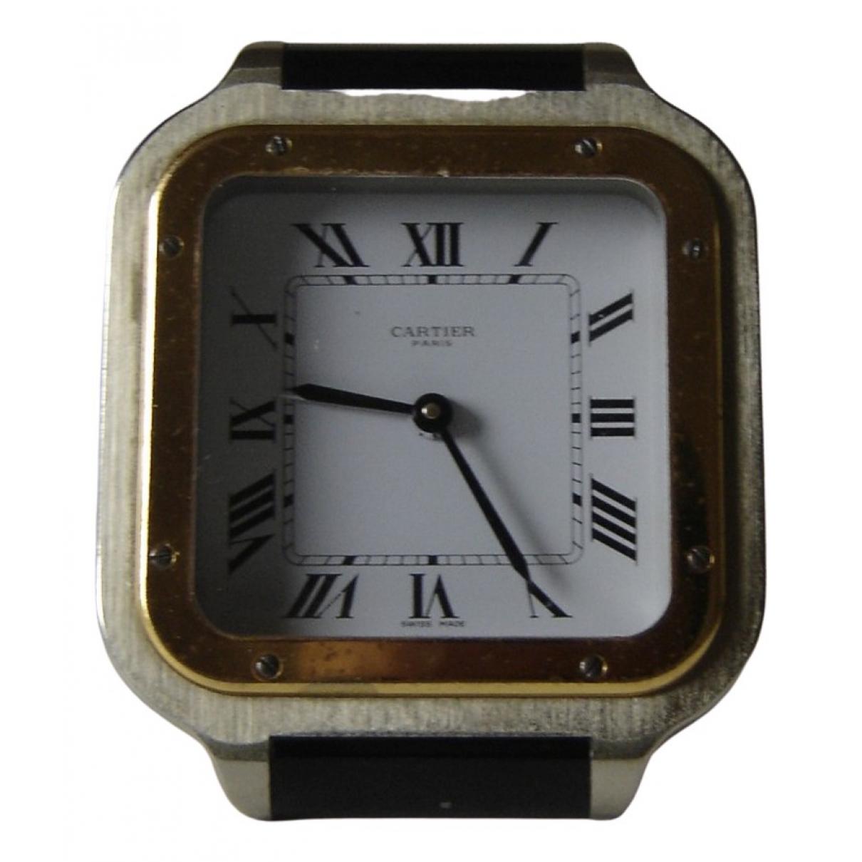 Cartier Horloge de voyage Santos Silver Metal Home decor for Life & Living \N