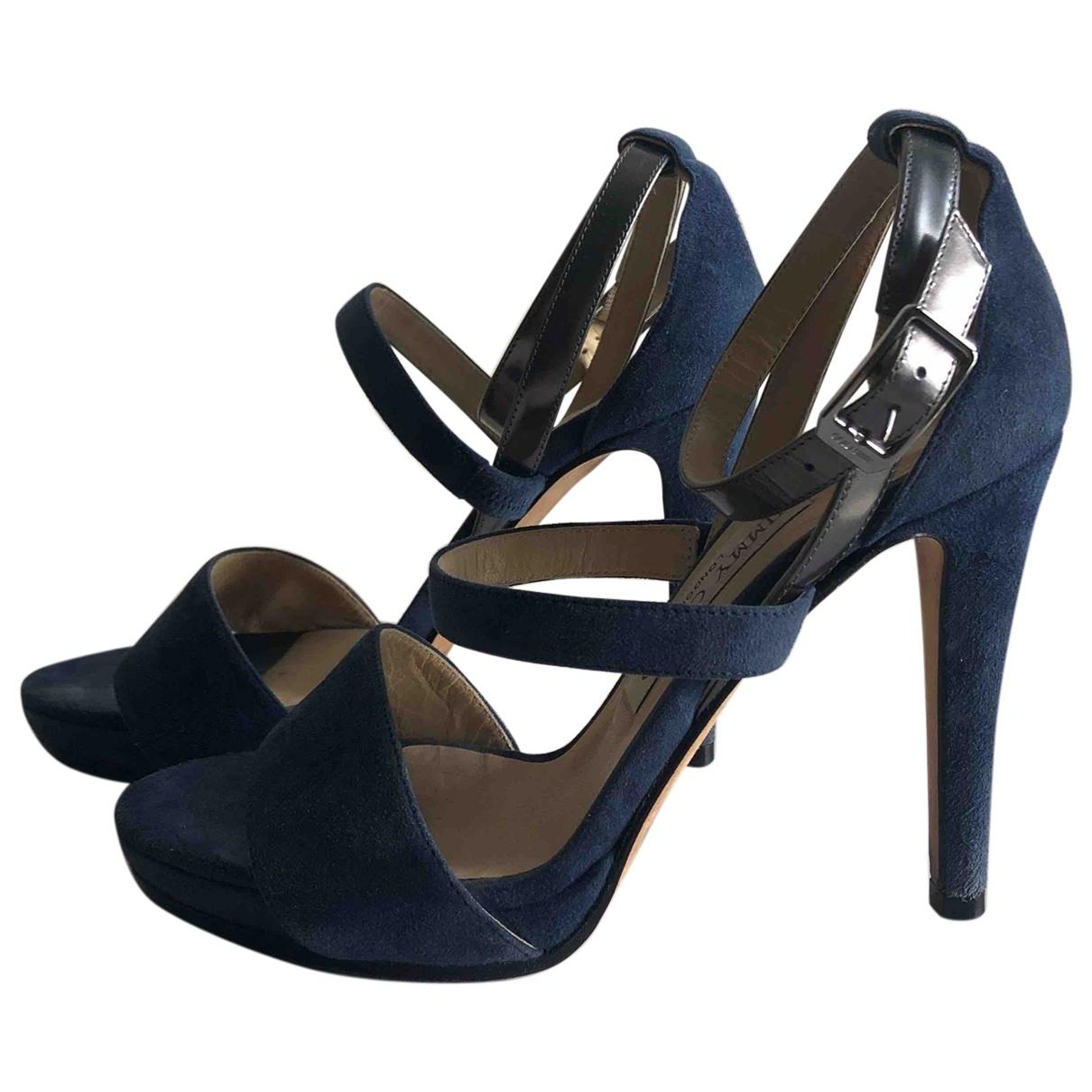 Jimmy Choo \N Blue Suede Sandals for Women 36 EU