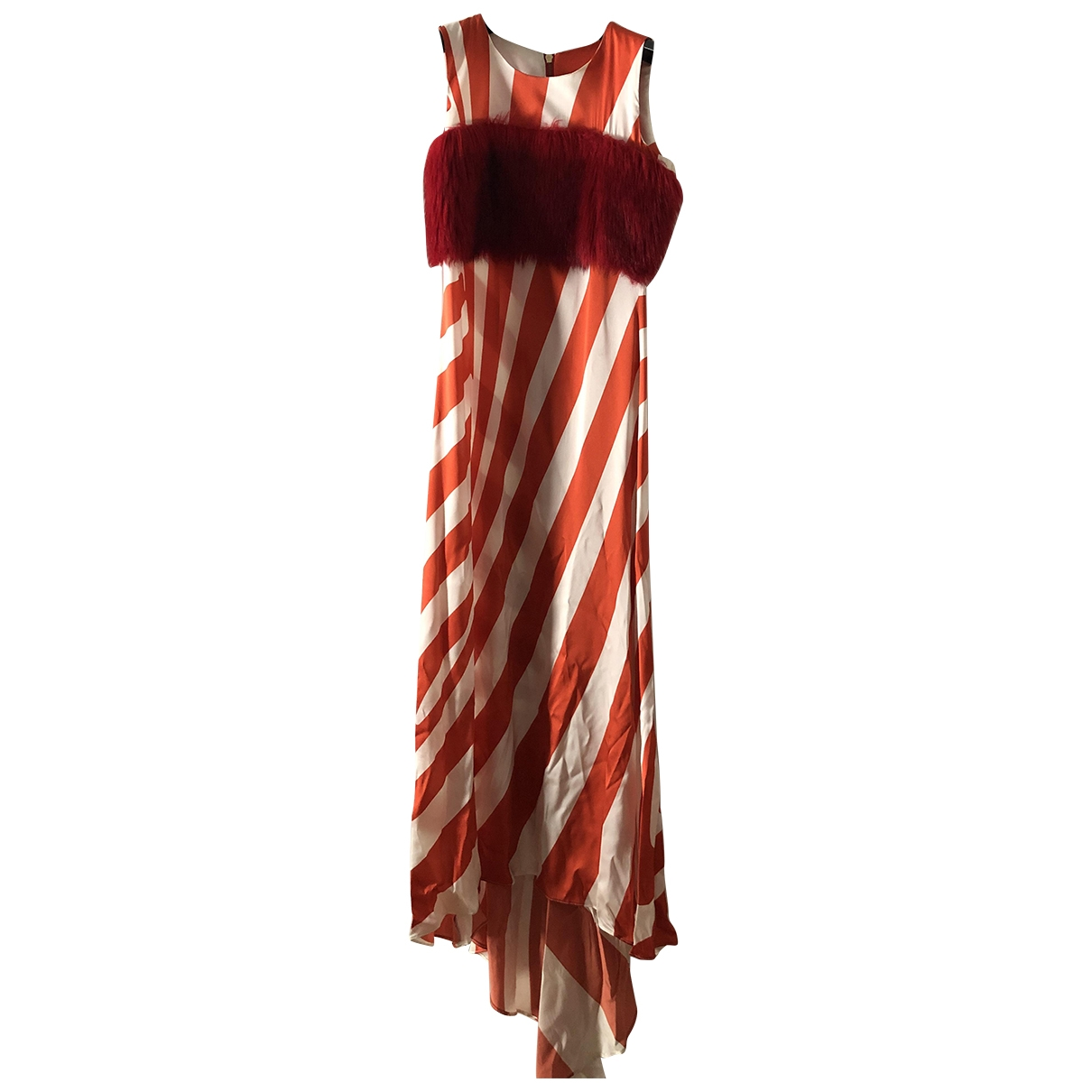 Non Signé / Unsigned \N Red Silk dress for Women S International