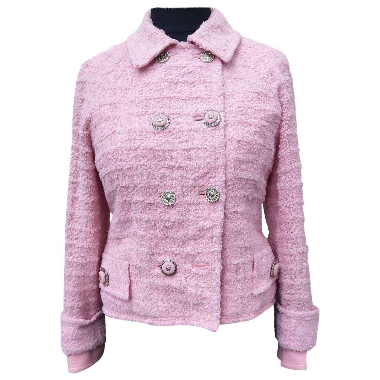 Gianni Versace \N Pink Wool jacket for Women 42 IT