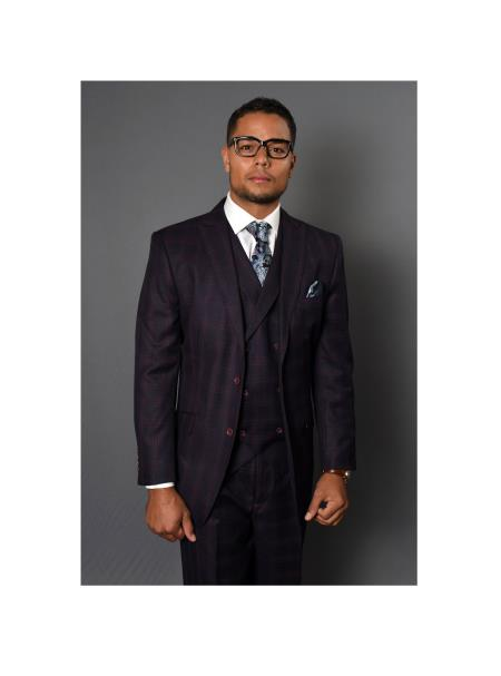 Brand Mens REGULAR FIT PLEATED PANTS ITALIAN Wool FABRIC Vest Siera