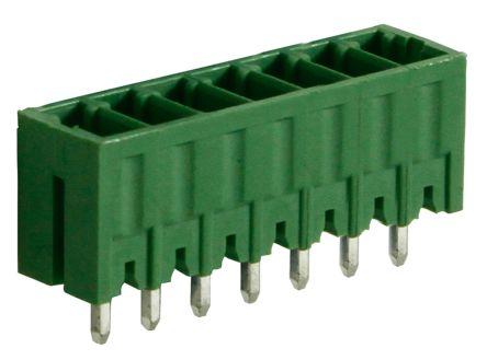 RS PRO , 7 Way, 1 Row, Vertical PCB Terminal Block Header (10)