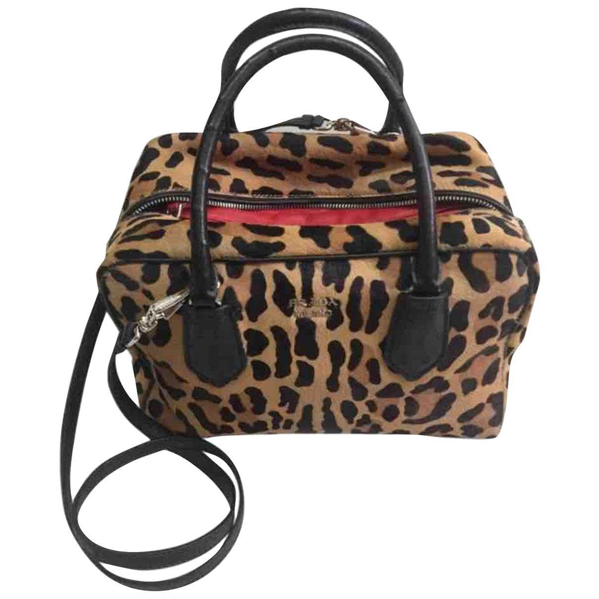 Prada \N Beige Pony-style calfskin handbag for Women \N