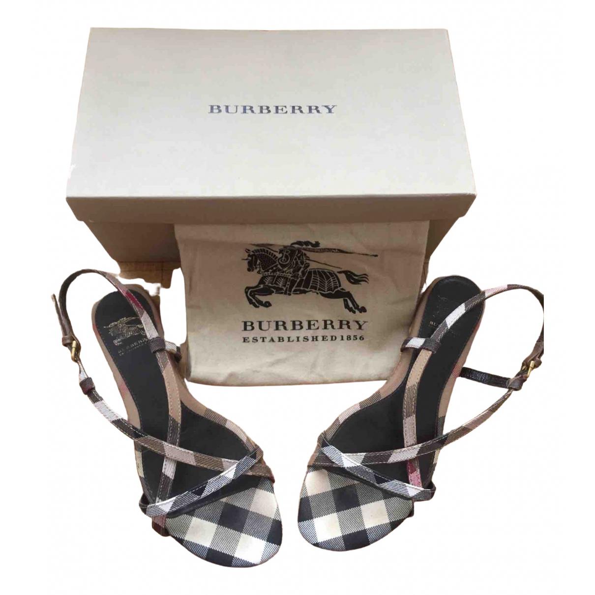 Burberry - Sandales   pour femme en cuir - multicolore