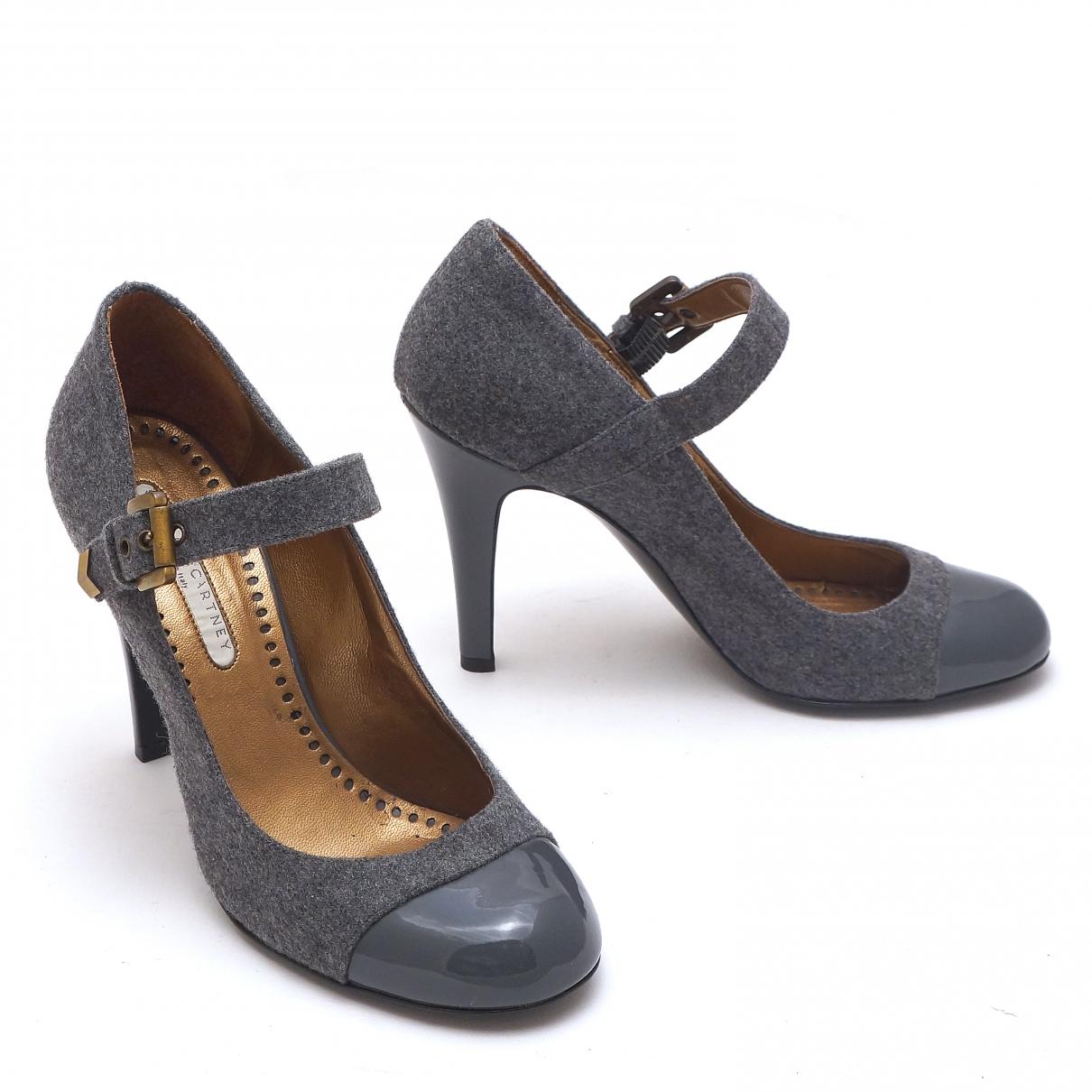 Stella Mccartney - Escarpins   pour femme en toile - gris