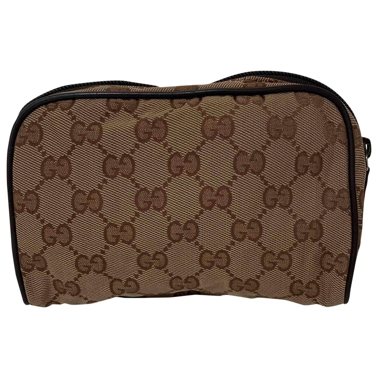 Gucci - Petite maroquinerie   pour femme en toile - marron