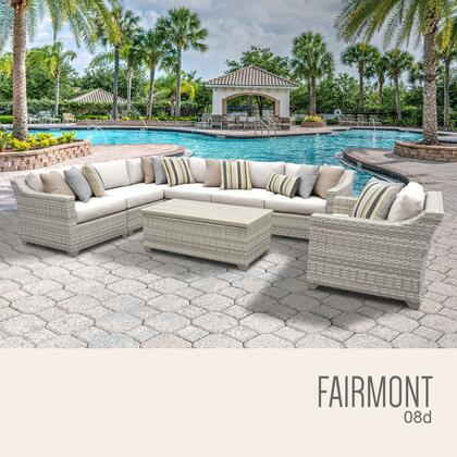FAIRMONT-08d Fairmont 8 Piece Outdoor Wicker Patio Furniture Set 08d with 1 Cover in