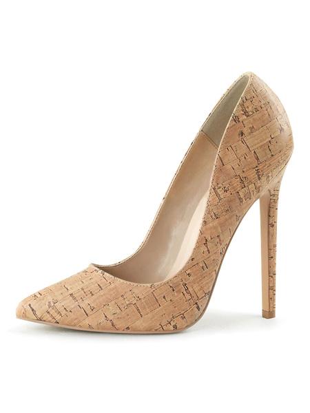 Milanoo Women's Black High Heels Slip-On Pointed Toe Stiletto Heel Sequins Sexy Shoes