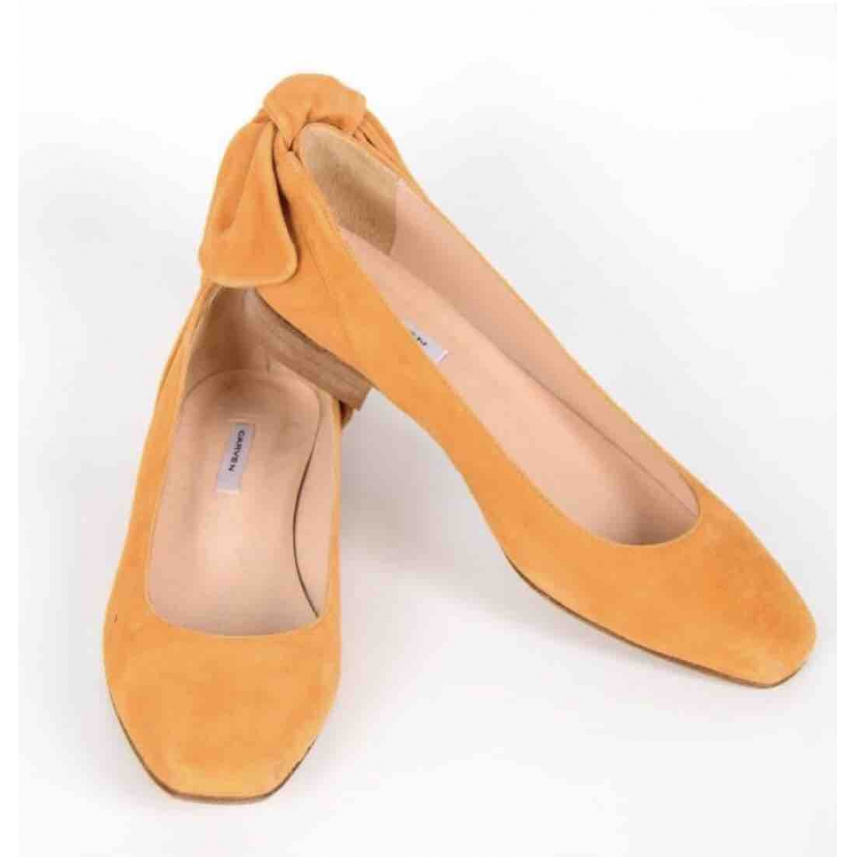 Carven \N Yellow Suede Ballet flats for Women 40 EU