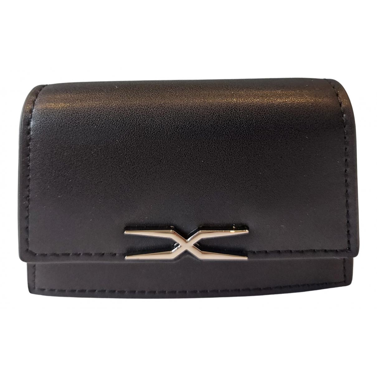 Each X Other - Pochette   pour femme en cuir - noir