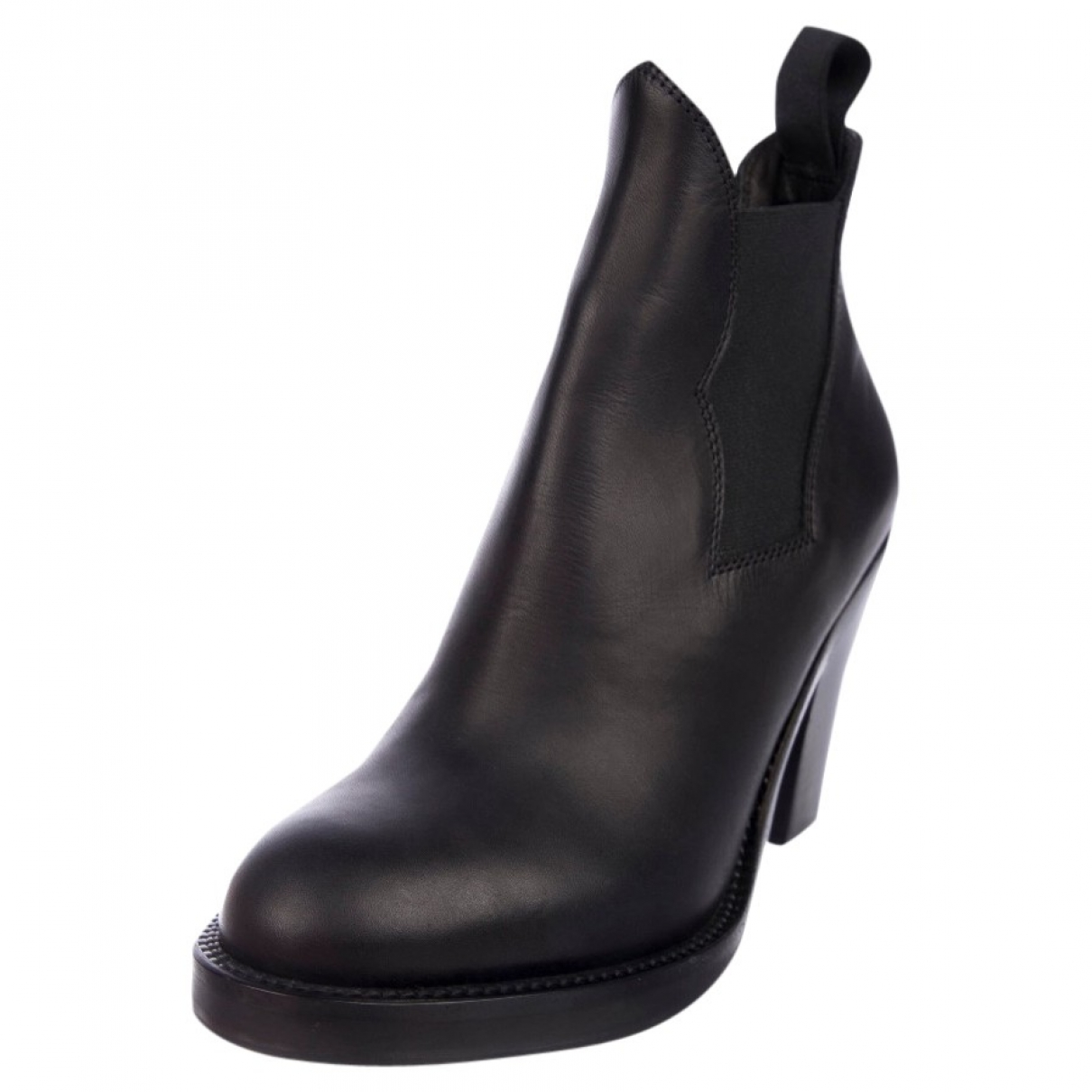 Acne Studios \N Black Leather Ankle boots for Women 36 EU