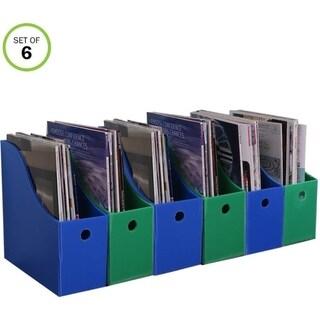 Evelots Magazine File Holder-New Heavy Duty Plastic-Organizer-4