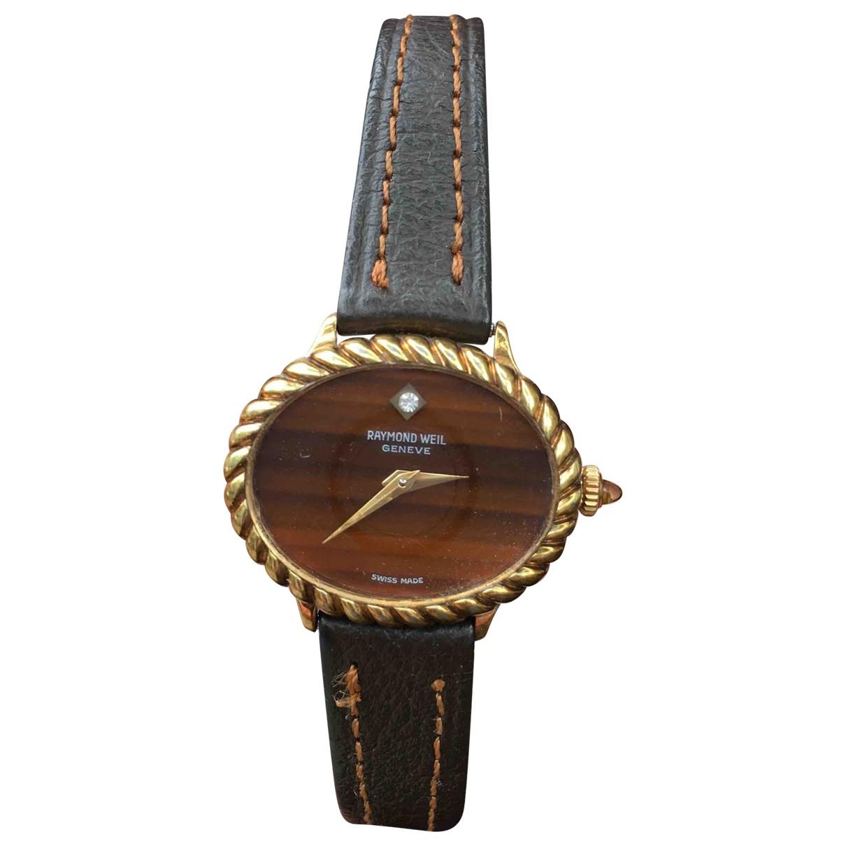 Raymond Weil \N Uhr in  Braun Vergoldet