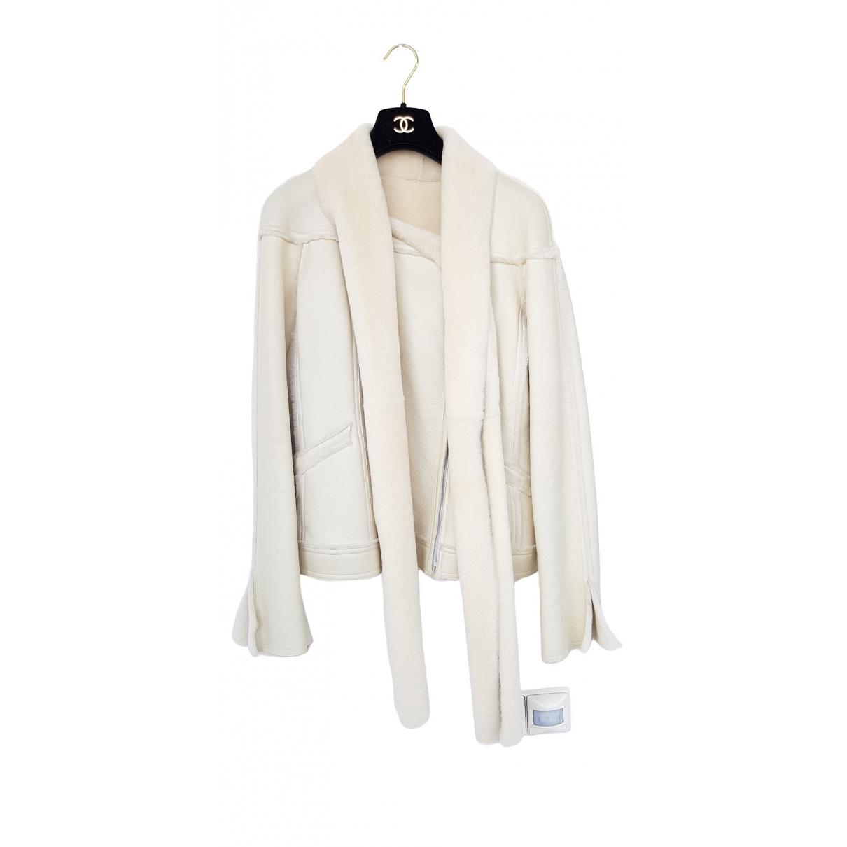 Chanel \N Ecru Shearling jacket for Women 38 FR