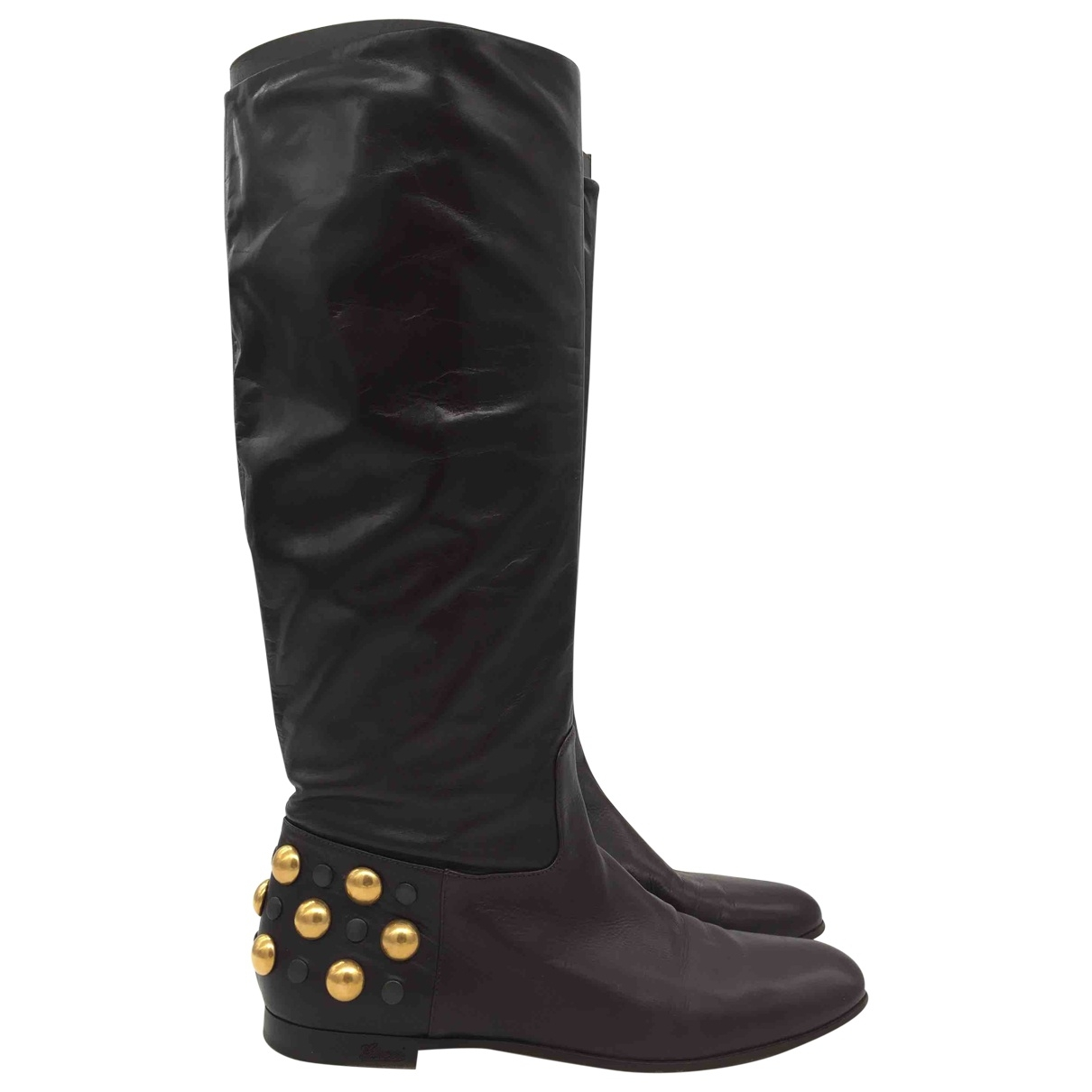 Gucci \N Brown Leather Boots for Women 38 EU