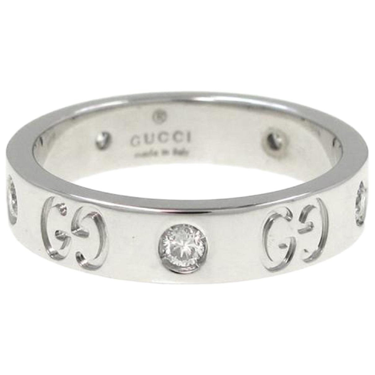 Gucci - Bague Icon pour femme en or blanc