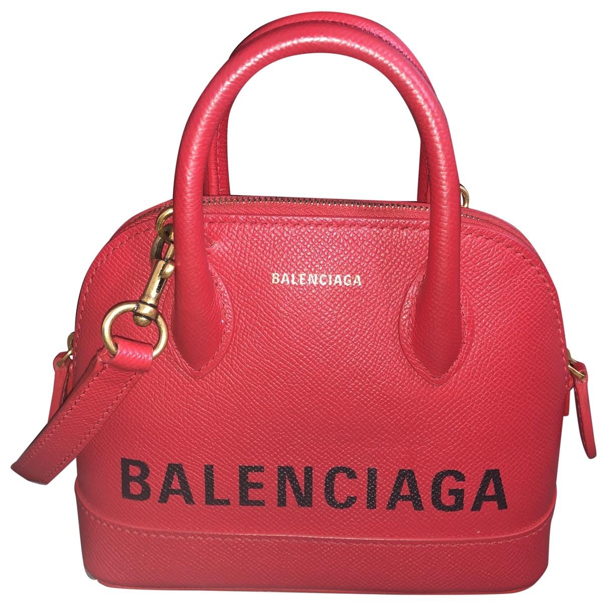 Balenciaga - Sac a main Ville Top Handle pour femme en cuir - rose