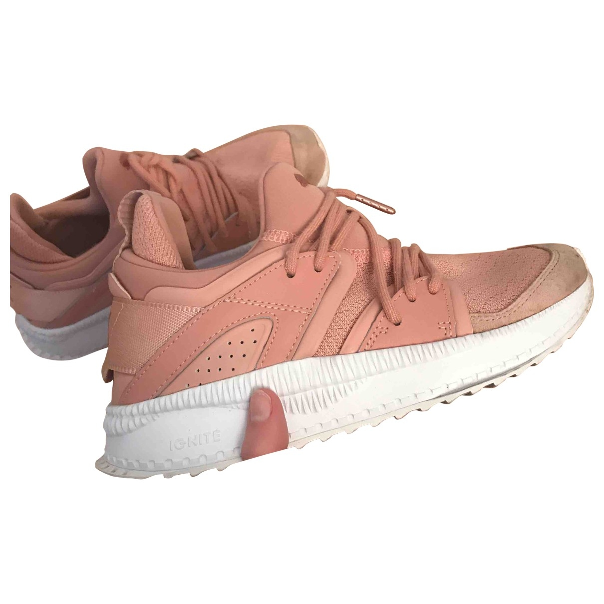 Puma \N Pink Suede Trainers for Women 37 EU