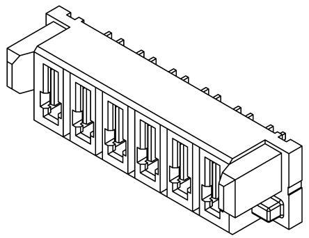 Samtec , MPS 5mm Pitch 4 Way 1 Row Straight PCB Socket, Through Hole, Solder Termination