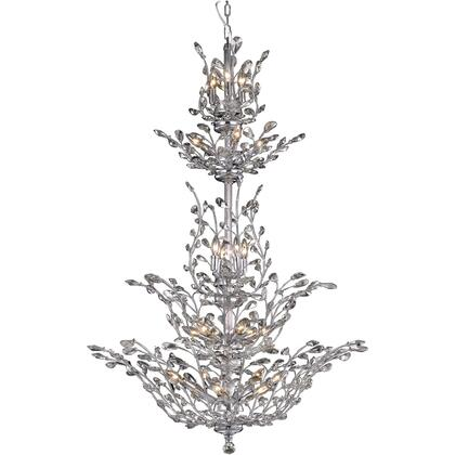 V2011G54C/SA Orchid 25 Light Chrome Chandelier Clear Spectra Swarovski