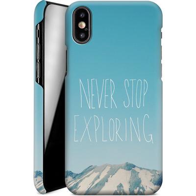 Apple iPhone X Smartphone Huelle - Never Stop Exploring von Leah Flores