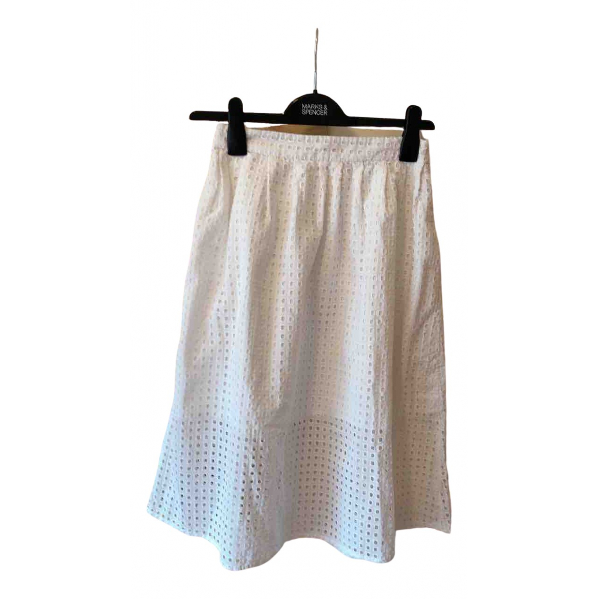 Zara \N White Cotton skirt for Women XS International